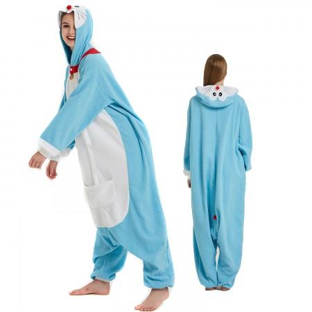 Doraemon Onesie Costume Pajama for Adult Women & Men Halloween Costumes