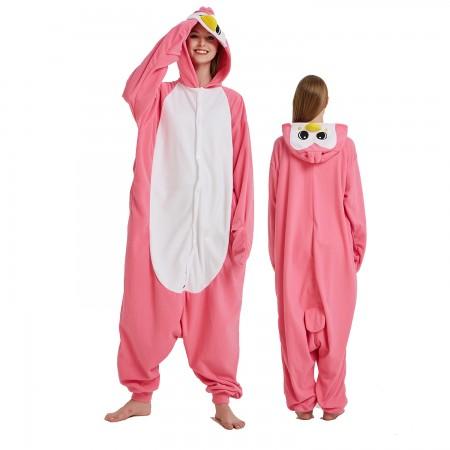 Pink Penguin Onesie Costume Pajama for Adult Women & Men Halloween Costumes
