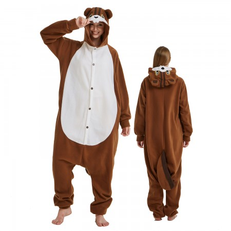 Squirrel Onesie Costume Pajama for Adult Women & Men Halloween Costumes