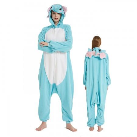 Blue Elepant Onesie Costume Pajama for Adult Women & Men Halloween Costumes