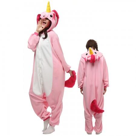 Pink Unicorn Costume Onesie Pajamas Adult Animal Onesie for Women & Men