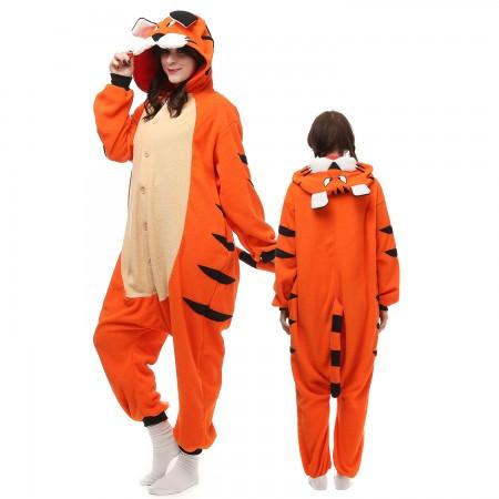 Bengal Tiger Costume Onesie Pajamas Adult Animal Onesie for Women & Men
