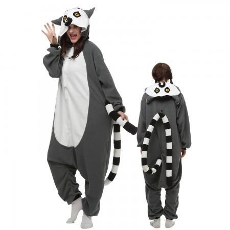 Lemur Costume Onesie Pajamas Adult Animal Onesie for Women & Men