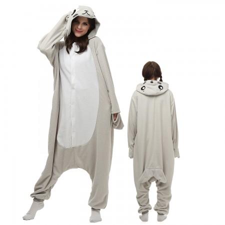 Seal Costume Onesie Pajamas Adult Animal Onesie for Women & Men