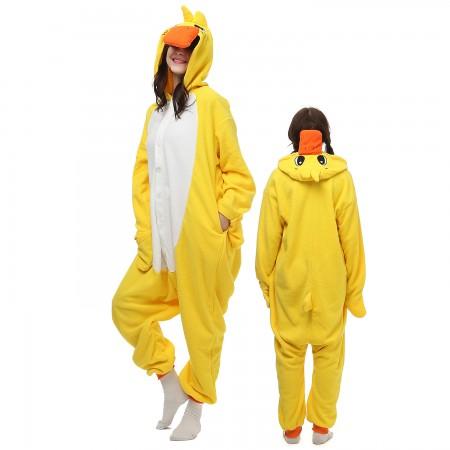 Yellow Duck Costume Onesie Pajamas Adult Animal Onesie for Women & Men