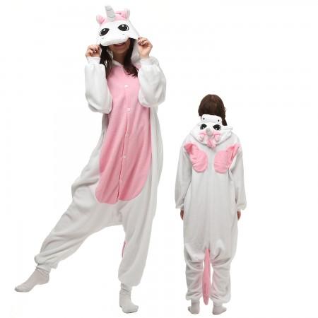 Pink Pegasus Unicorn Costume Onesie Pajamas Adult Animal Onesie for Women & Men