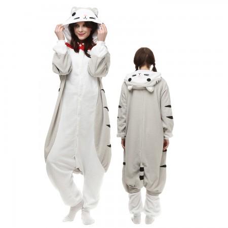 Cheese Cat Costume Onesie Pajamas Adult Animal Onesie for Women & Men