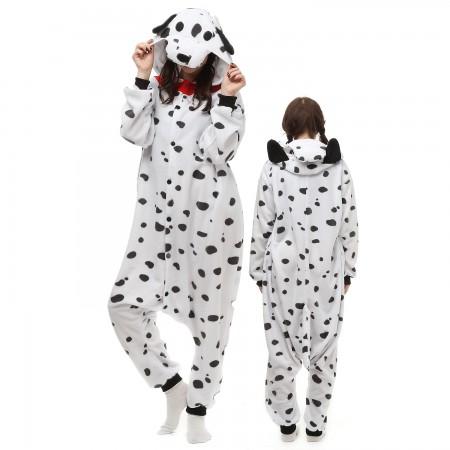 Spotted Dog Costume Onesie Pajamas Adult Animal Onesie for Women & Men