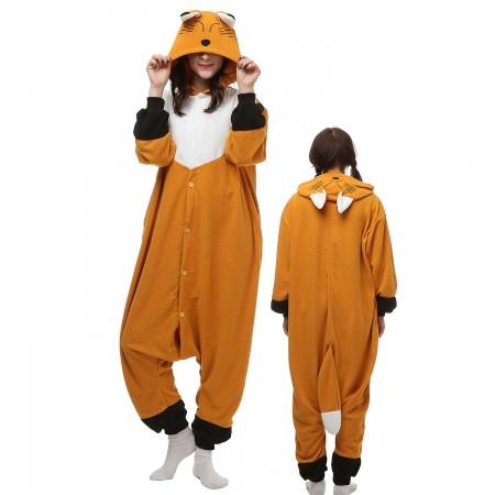 Japanese Fox Costume Onesie Pajamas Adult Animal Onesie for Women & Men
