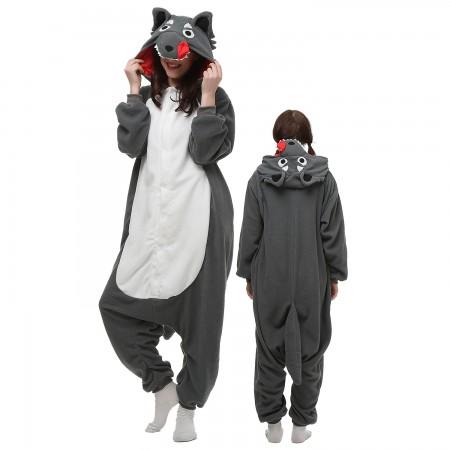 Wolf Costume Onesie Pajamas Adult Animal Onesie for Women & Men
