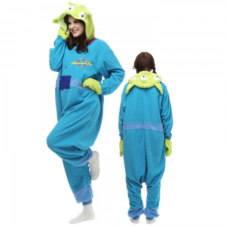 Three-eyed Monster Costume Onesie Pajamas Adult Animal Onesie for Women & Men