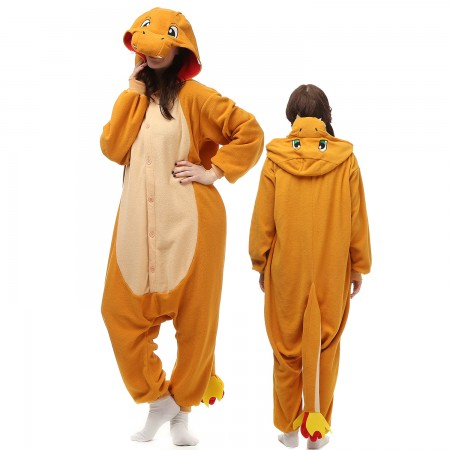 Charmander Costume Onesie Pajamas Adult Animal Onesie for Women & Men