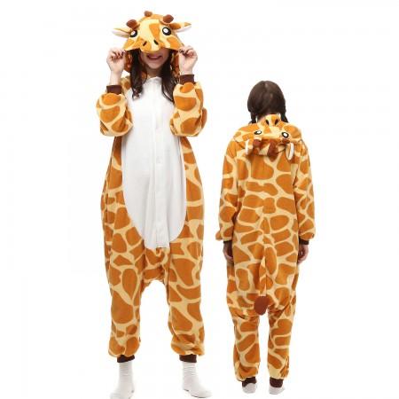 Giraffe Costume Onesie Pajamas Adult Animal Onesie for Women & Men