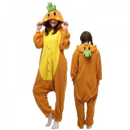 Carrot Costume Onesie Pajamas Adult Animal Onesie for Women & Men