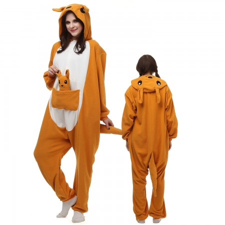 Kangaroo Costume Onesie Pajamas Adult Animal Onesie for Women & Men
