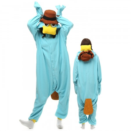 Platypus Costume Onesie Pajamas Adult Animal Onesie for Women & Men