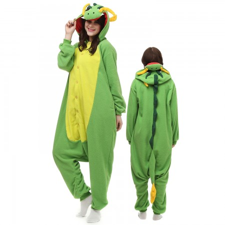 Chinese Dragon Costume Onesie Pajamas Adult Animal Onesie for Women & Men