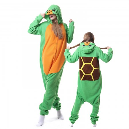 Tortoise Costume Onesie Pajamas Adult Animal Onesie for Women & Men