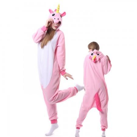 Pink Unicorn Costume Unicorn Onesie Pajamas Adult Animal Costumes for Women & Men