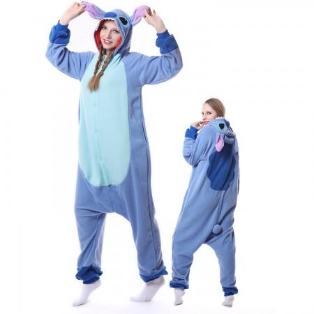 Stitch Costume Onesie Pajamas Adult Animal Costumes for Women & Men