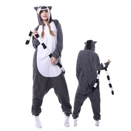 Lemur Costume Onesie Pajamas Adult Animal Costumes for Women & Men
