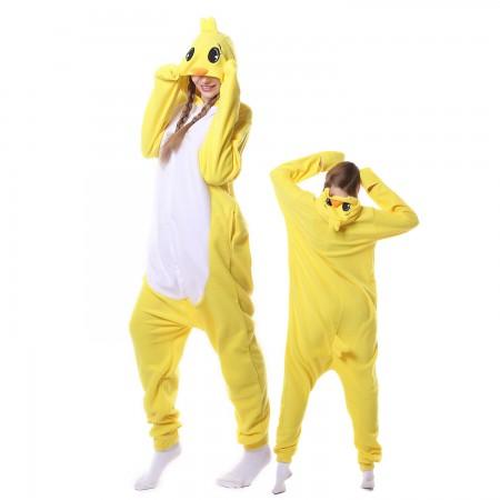 Cute Duck Costume Onesie Pajamas Adult Animal Costumes for Women & Men