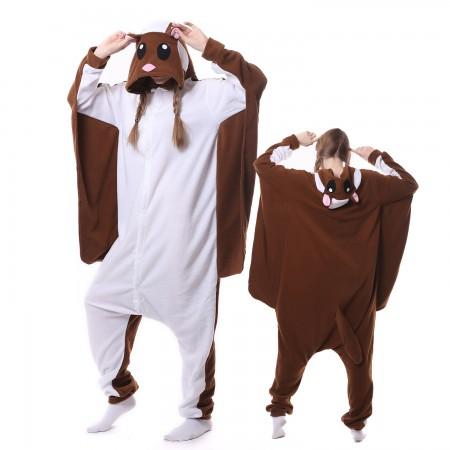 Flying Squirrel Costume Onesie Pajamas Adult Animal Costumes for Women & Men