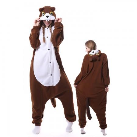 Squirrel Costume Onesie Pajamas Adult Animal Costumes for Women & Men