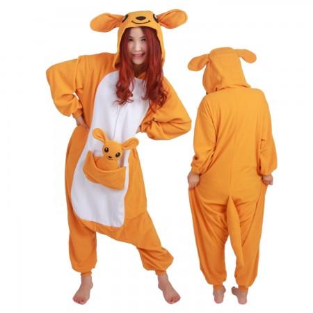 Kangaroo Costume Onesie Pajamas Adult Animal Costumes for Women & Men