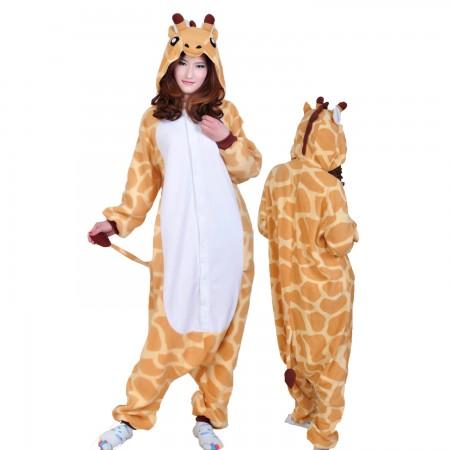 Giraffe Costume Onesie Pajamas Adult Animal Costumes for Women & Men