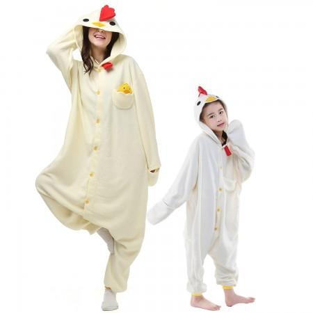 White Chicken Onesie Costume  Animal Onesies for Adults & Kids