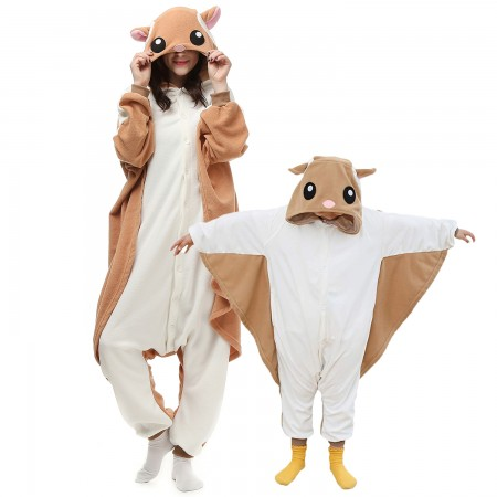 Flying Squirrel Onesie Costumes for Kids & Adults
