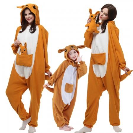 Kids & Adults Kangaroo Onesie Costumes