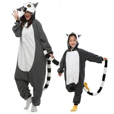 Lemur Onesie Costumes for Kids & Adults