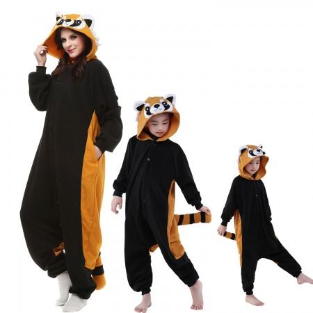 Red Panda Raccoon Onesie Costume  Animal Onesies for Adults & Kids