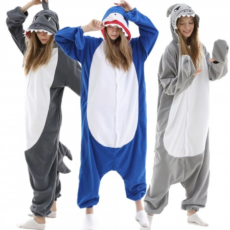 Adults Shark Onesie Costume for Women & Men Animal Onesies