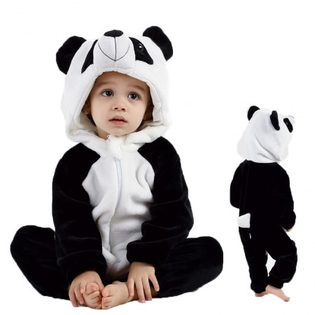 Panda Onesie Pajama Toddler Animal Costume for Baby Infant