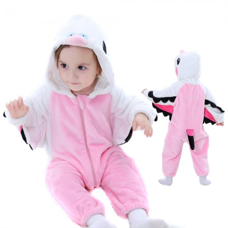 Pink Macaw Parrot Onesie Pajama Toddler Animal Costume for Baby Infant