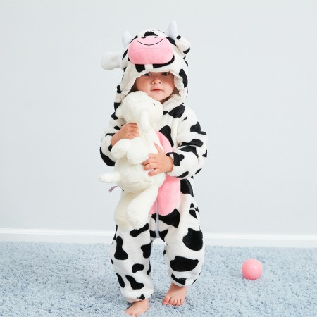 Cow Onesie Pajama Toddler Animal Costume for Baby Infant