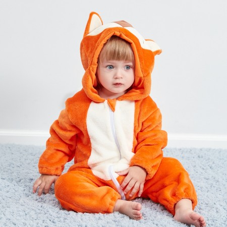 Baby Fox Onesie Pajama Animal Onesies Costume for Toddler Infant