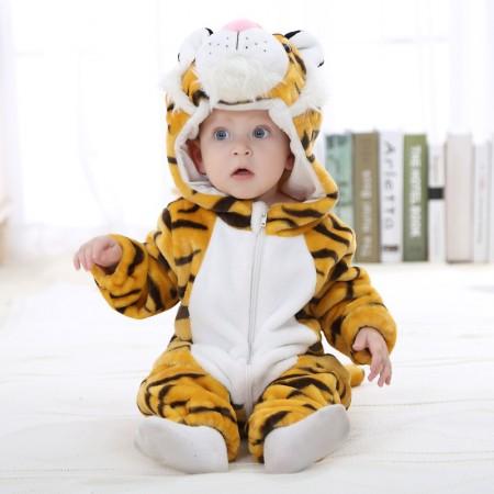 Baby Tiger Onesie Pajama Animal Onesies Costume for Toddler Infant