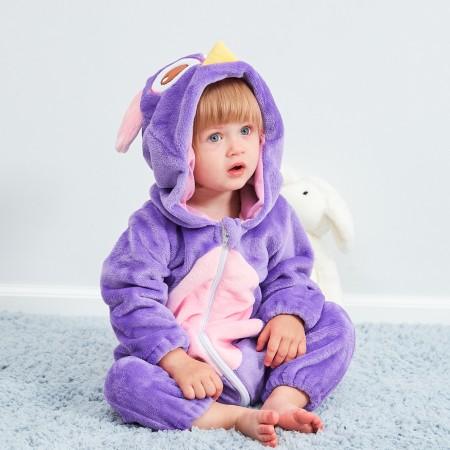 Baby Purple Owl Onesie Pajama Animal Onesies Costume for Toddler Infant