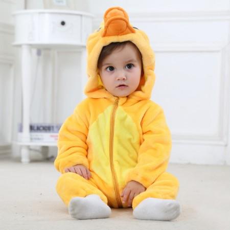 Baby Yellow Duck Onesie Pajama Animal Onesies Costume for Toddler Infant