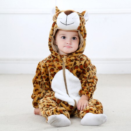 Baby Leopard Onesie Pajama Animal Onesies Costume for Toddler Infant