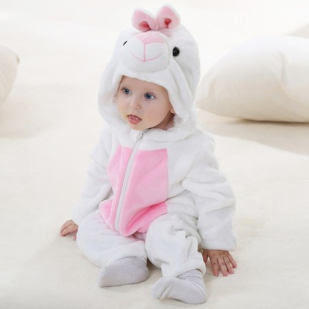 Baby White Rabbit Onesie Pajama Animal Onesies Costume for Toddler Infant