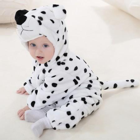 Baby Snow Leopard Onesie Pajama Animal Onesies Costume for Toddler Infant