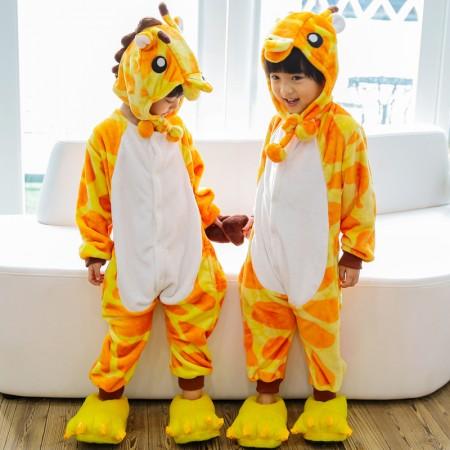 Kids Giraffe Onesie Costume Pajama for Boys & Girls With Hood