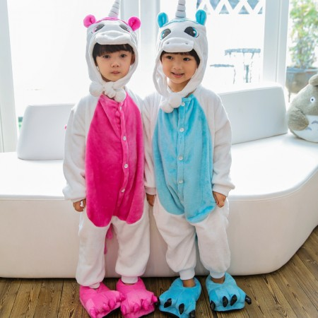 Kids Unicorn Onesie Costume Pajama for Boys & Girls With Hood