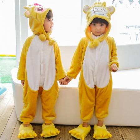 Kids Monkey Onesie Costume Pajama for Boys & Girls With Hood
