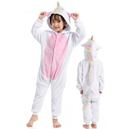 Rainbow Tail Unicorn Onesie Costume Pajama Kids Animal Outfit for Boys & Girls